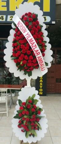 Çift katlı düğün nikah çiçeği modeli  Amasya hediye çiçek yolla