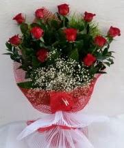 11 adet kırmızı gülden görsel çiçek  Amasya çiçek satışı