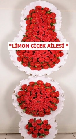 3 katlı kırmızı düğün açılış çiçeği  Amasya çiçek gönderme