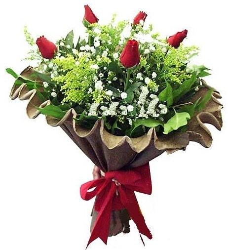 5 adet gülden buket  Amasya çiçek gönderme sitemiz güvenlidir