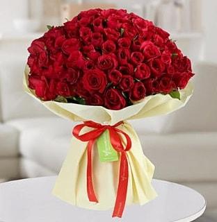 101 adet kırmızı gül buketi koca demet  Amasya internetten çiçek siparişi