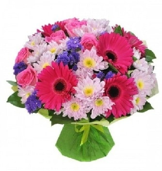 Karışık mevsim buketi mevsimsel buket  Amasya çiçek satışı