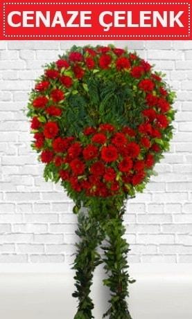 Kırmızı Çelenk Cenaze çiçeği  Amasya İnternetten çiçek siparişi