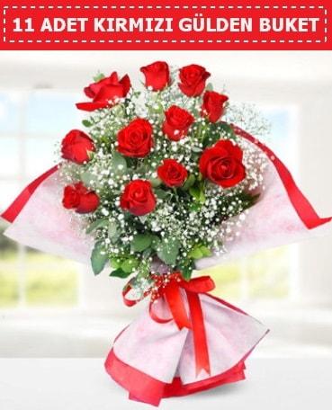 11 Adet Kırmızı Gül Buketi  Amasya internetten çiçek siparişi