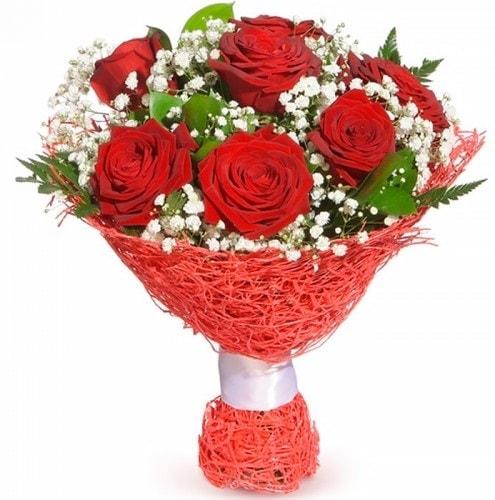 7 adet kırmızı gül buketi  Amasya çiçekçiler